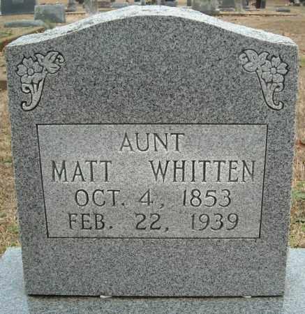 WHITTEN, MATT - Faulkner County, Arkansas   MATT WHITTEN - Arkansas Gravestone Photos