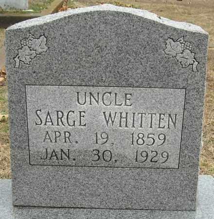 WHITTEN, SARGE - Faulkner County, Arkansas | SARGE WHITTEN - Arkansas Gravestone Photos
