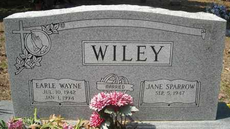 WILEY, EARLE WAYNE - Faulkner County, Arkansas | EARLE WAYNE WILEY - Arkansas Gravestone Photos