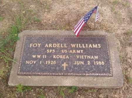 WILLIAMS (VETERAN 3 WARS), FOY ARDELL - Faulkner County, Arkansas | FOY ARDELL WILLIAMS (VETERAN 3 WARS) - Arkansas Gravestone Photos