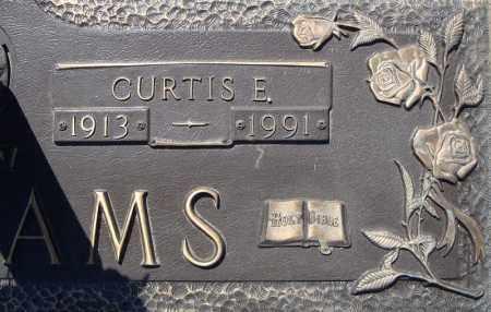 WILLIAMS, CURTIS E.  (CLOSE UP) - Faulkner County, Arkansas   CURTIS E.  (CLOSE UP) WILLIAMS - Arkansas Gravestone Photos