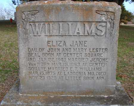 BEAL WILLIAMS, ELIZA JANE - Faulkner County, Arkansas | ELIZA JANE BEAL WILLIAMS - Arkansas Gravestone Photos
