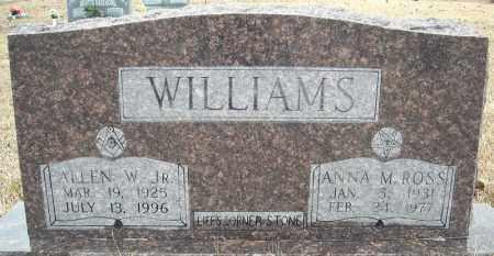 WILLIAMS, JR., ALLEN W. - Faulkner County, Arkansas | ALLEN W. WILLIAMS, JR. - Arkansas Gravestone Photos