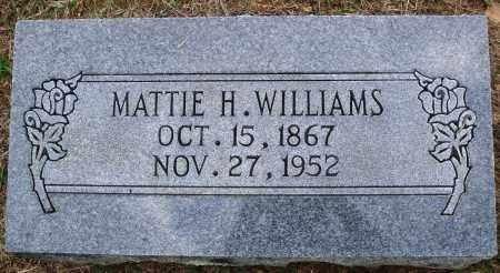 WILLIAMS, MATTIE H. - Faulkner County, Arkansas   MATTIE H. WILLIAMS - Arkansas Gravestone Photos