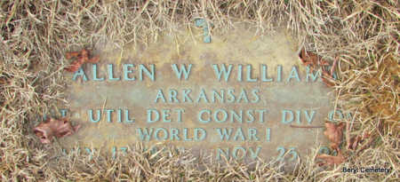 WILLIAMS (VETERAN WWI), ALLEN W - Faulkner County, Arkansas | ALLEN W WILLIAMS (VETERAN WWI) - Arkansas Gravestone Photos