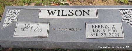 WILSON, BERNIS ALLEN - Faulkner County, Arkansas   BERNIS ALLEN WILSON - Arkansas Gravestone Photos