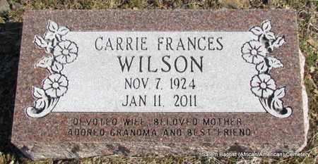 WILSON, CARRIE FRANCES - Faulkner County, Arkansas | CARRIE FRANCES WILSON - Arkansas Gravestone Photos