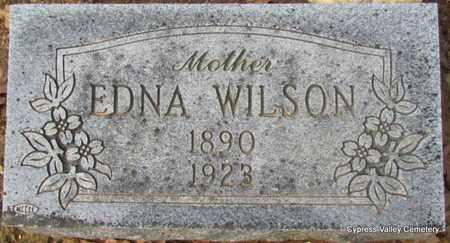 WILSON, EDNA VERA (2 STONES) - Faulkner County, Arkansas | EDNA VERA (2 STONES) WILSON - Arkansas Gravestone Photos
