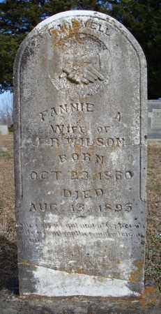 WILSON, FANNIE A. - Faulkner County, Arkansas   FANNIE A. WILSON - Arkansas Gravestone Photos