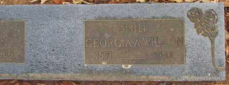WILSON, GEORGIA A. (CLOSE UP) - Faulkner County, Arkansas | GEORGIA A. (CLOSE UP) WILSON - Arkansas Gravestone Photos