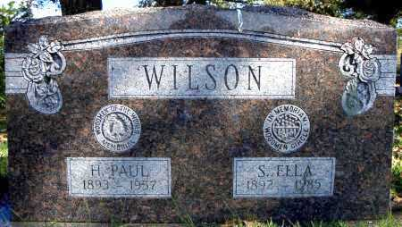 WILSON, S. ELLA - Faulkner County, Arkansas | S. ELLA WILSON - Arkansas Gravestone Photos