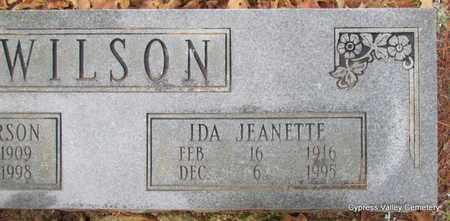 WILSON, IDA JEANETTE (CLOSE UP) - Faulkner County, Arkansas | IDA JEANETTE (CLOSE UP) WILSON - Arkansas Gravestone Photos