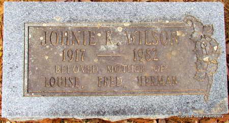 WILSON, JOHNIE K. - Faulkner County, Arkansas | JOHNIE K. WILSON - Arkansas Gravestone Photos