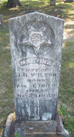 WILSON, MALVINA - Faulkner County, Arkansas | MALVINA WILSON - Arkansas Gravestone Photos