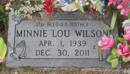 WILSON, MINNIE LOU - Faulkner County, Arkansas | MINNIE LOU WILSON - Arkansas Gravestone Photos