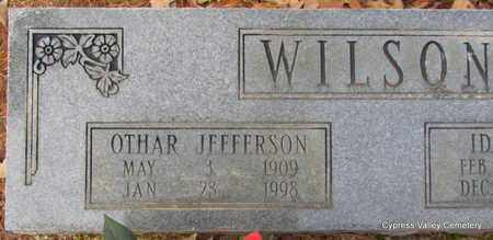WILSON, OTHAR JEFFERSON (CLOSE UP) - Faulkner County, Arkansas | OTHAR JEFFERSON (CLOSE UP) WILSON - Arkansas Gravestone Photos