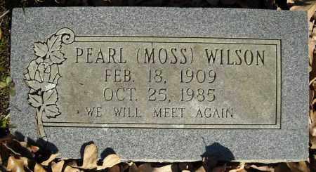 MOSS WILSON, PEARL - Faulkner County, Arkansas   PEARL MOSS WILSON - Arkansas Gravestone Photos