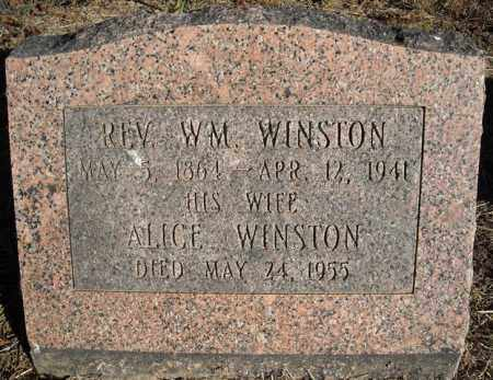 WINSTON, ALICE - Faulkner County, Arkansas | ALICE WINSTON - Arkansas Gravestone Photos