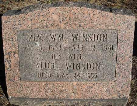 WINSTON, ALICE - Faulkner County, Arkansas | ALICE WINSTON - Arkansas Gravestone Photos