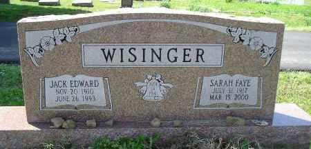 WISINGER, JACK EDWARD - Faulkner County, Arkansas   JACK EDWARD WISINGER - Arkansas Gravestone Photos