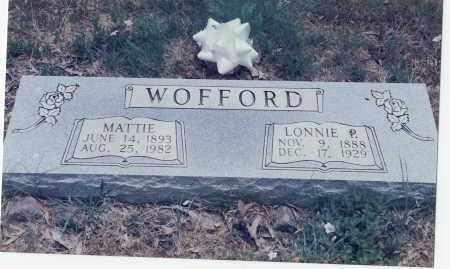 WOFFORD, MATTIE - Faulkner County, Arkansas | MATTIE WOFFORD - Arkansas Gravestone Photos