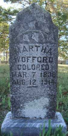 WOFFORD, MARTHA - Faulkner County, Arkansas | MARTHA WOFFORD - Arkansas Gravestone Photos