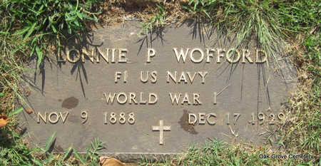 WOFFORD (VETERAN WWI), LONNIE P - Faulkner County, Arkansas | LONNIE P WOFFORD (VETERAN WWI) - Arkansas Gravestone Photos