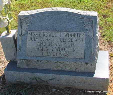 WOOFTER, BESSIE - Faulkner County, Arkansas   BESSIE WOOFTER - Arkansas Gravestone Photos