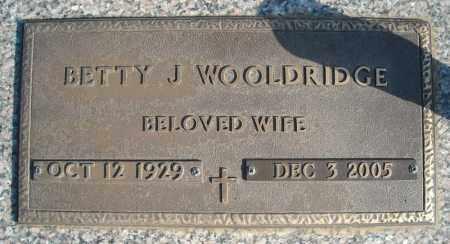 WOOLDRIDGE, BETTY J - Faulkner County, Arkansas | BETTY J WOOLDRIDGE - Arkansas Gravestone Photos