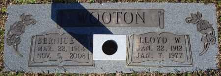WOOTON, LLOYD W. - Faulkner County, Arkansas   LLOYD W. WOOTON - Arkansas Gravestone Photos