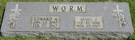 WORM, MARY J. - Faulkner County, Arkansas   MARY J. WORM - Arkansas Gravestone Photos