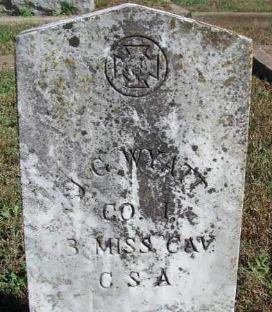 WYATT (VETERAN CSA), J G - Faulkner County, Arkansas   J G WYATT (VETERAN CSA) - Arkansas Gravestone Photos