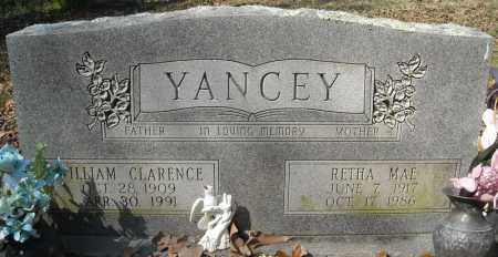 YANCEY, WILLIAM CLARENCE - Faulkner County, Arkansas   WILLIAM CLARENCE YANCEY - Arkansas Gravestone Photos