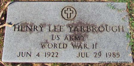 YARBROUGH (VETERAN WWII), HENRY LEE - Faulkner County, Arkansas   HENRY LEE YARBROUGH (VETERAN WWII) - Arkansas Gravestone Photos
