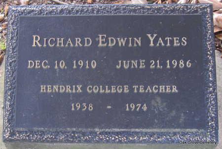 YATES, RICHARD EDWIN - Faulkner County, Arkansas | RICHARD EDWIN YATES - Arkansas Gravestone Photos