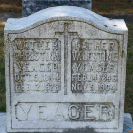 YEAGER, CHRISTINA - Faulkner County, Arkansas | CHRISTINA YEAGER - Arkansas Gravestone Photos