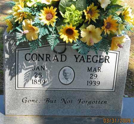 YEAGER, CONRAD - Faulkner County, Arkansas | CONRAD YEAGER - Arkansas Gravestone Photos