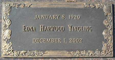 HARWOOD YINGLING, EDNA - Faulkner County, Arkansas | EDNA HARWOOD YINGLING - Arkansas Gravestone Photos
