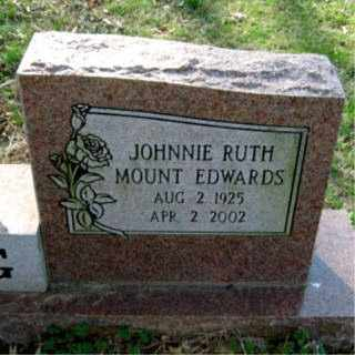 YOUNG, JOHNNIE RUTH MOUNT EDWARDS - Faulkner County, Arkansas | JOHNNIE RUTH MOUNT EDWARDS YOUNG - Arkansas Gravestone Photos