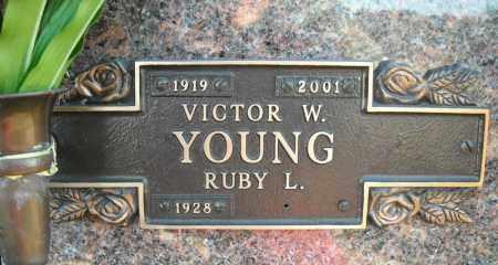 YOUNG, VICTOR W. - Faulkner County, Arkansas | VICTOR W. YOUNG - Arkansas Gravestone Photos