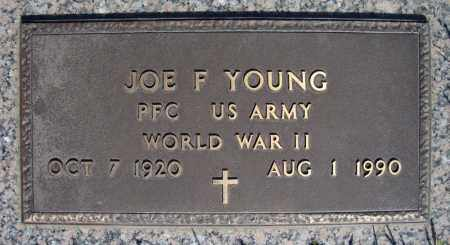 YOUNG (VETERAN WWII), JOE F - Faulkner County, Arkansas | JOE F YOUNG (VETERAN WWII) - Arkansas Gravestone Photos