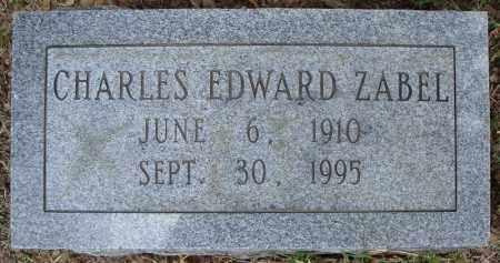 ZABEL, CHARLES EDWARD - Faulkner County, Arkansas | CHARLES EDWARD ZABEL - Arkansas Gravestone Photos