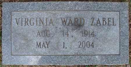 ZABEL, VIRGINIA - Faulkner County, Arkansas | VIRGINIA ZABEL - Arkansas Gravestone Photos
