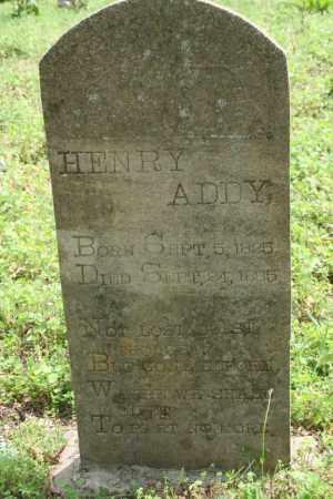 ADDY, HENRY - Franklin County, Arkansas | HENRY ADDY - Arkansas Gravestone Photos