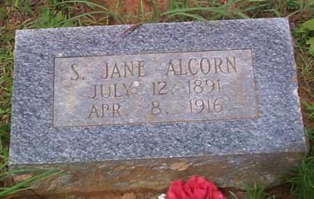 ALCORN, S  JANE - Franklin County, Arkansas   S  JANE ALCORN - Arkansas Gravestone Photos