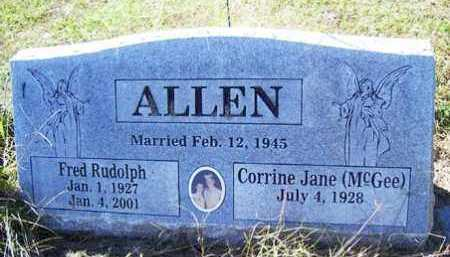 ALLEN, FRED RUDOLPH - Franklin County, Arkansas   FRED RUDOLPH ALLEN - Arkansas Gravestone Photos
