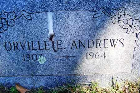 ANDREWS, ORVILLE E. - Franklin County, Arkansas | ORVILLE E. ANDREWS - Arkansas Gravestone Photos