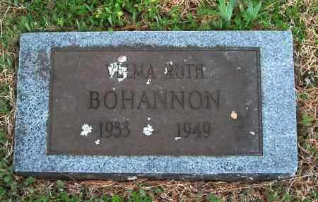 BOHANNON, VELMA RUTH - Franklin County, Arkansas | VELMA RUTH BOHANNON - Arkansas Gravestone Photos