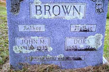 BROWN, DORA - Franklin County, Arkansas | DORA BROWN - Arkansas Gravestone Photos
