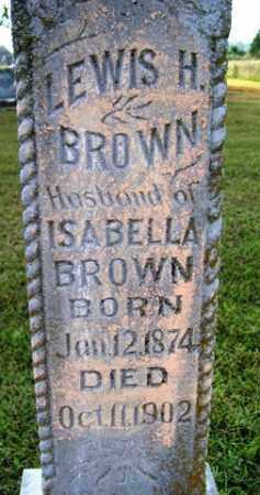 BROWN, LEWIS H - Franklin County, Arkansas   LEWIS H BROWN - Arkansas Gravestone Photos